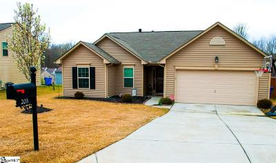 Simpsonville Single Family Home For Sale: 203 Gibby