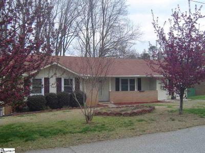 Greenville SC Single Family Home For Sale: $107,000
