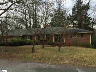 Greenville SC Single Family Home For Sale: $84,900