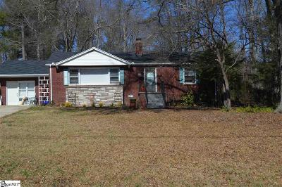 Greenville County Single Family Home For Sale: 38 Long Forest
