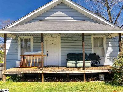 Greenville SC Single Family Home For Sale: $69,000