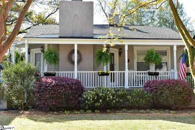Spartanburg Single Family Home Contingency Contract: 525 Glendalyn