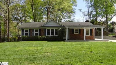 Simpsonville Single Family Home For Sale: 114 Coalmont