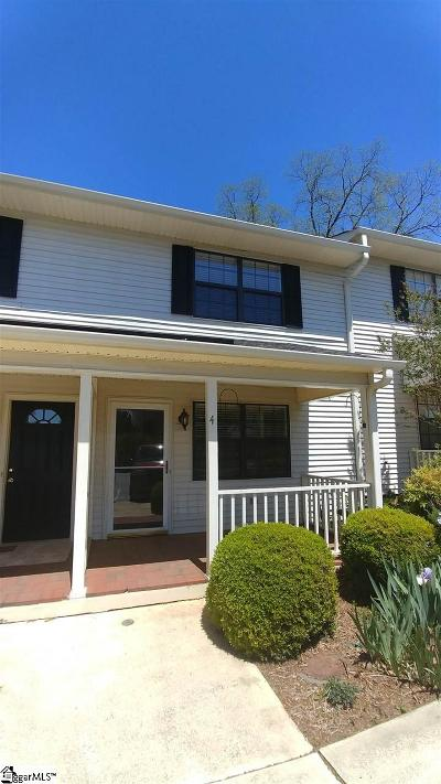 Greenville Condo/Townhouse For Sale: 408 Townes #Unit 4