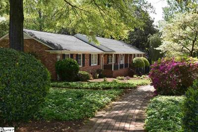 Greenville Single Family Home For Sale: 1215 Parkins Mill