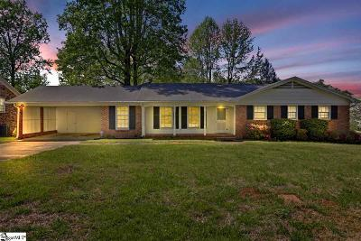 Greer Single Family Home For Sale: 117 Woodvale