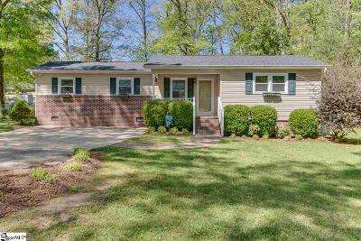 Simpsonville Single Family Home For Sale: 210 Cheyenne