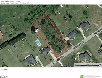 Spartanburg Residential Lots & Land For Sale: 137 White Springs