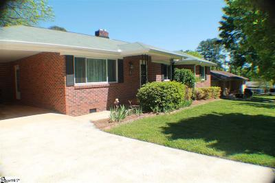Greenville Single Family Home For Sale: 6 Vista