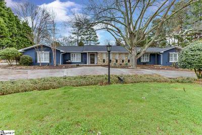 Greenville Single Family Home For Sale: 1147 Parkins Mill