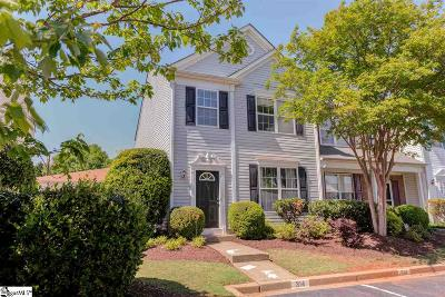Greenville County Condo/Townhouse For Sale: 314 Claybrooke