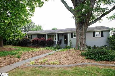 Greenville County Single Family Home For Sale: 100 Chestnut