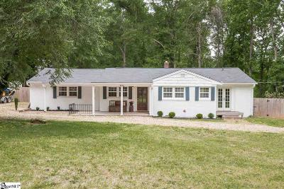 Greenville Single Family Home For Sale: 600 Rockmont