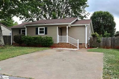 Easley Single Family Home For Sale: 106 Terrace