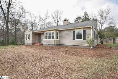 Greenville SC Single Family Home For Sale: $344,000