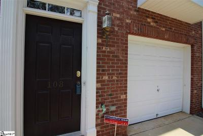 Mauldin Condo/Townhouse For Sale: 108 Cambria