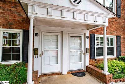 Greenville Condo/Townhouse For Sale: 501 Edwards #Unit #17