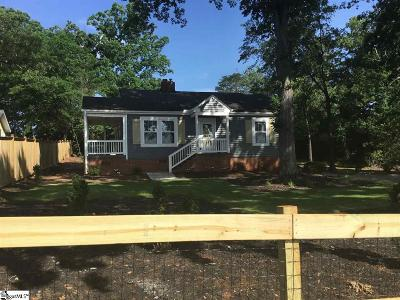 Greenville Single Family Home For Sale: 319 Furman Hall