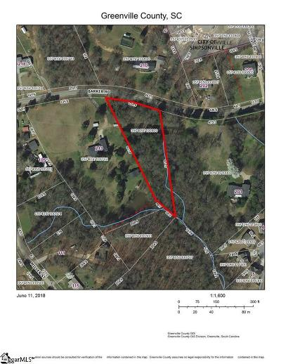 Simpsonville Residential Lots & Land Contingency Contract: Barker