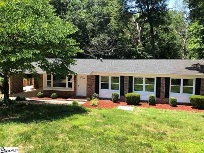 Fountain Inn Single Family Home Contingency Contract: 105 Cliffwood