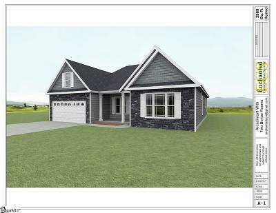 Greer Single Family Home For Sale: 1382 Satterfield #lot 1