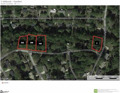 Taylors Residential Lots & Land For Sale: Hillbrook