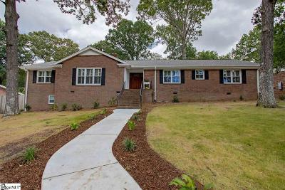 Greenville Single Family Home For Sale: 8 Indian Springs