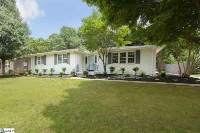 Greenville Single Family Home For Sale: 615 Parkins Mill