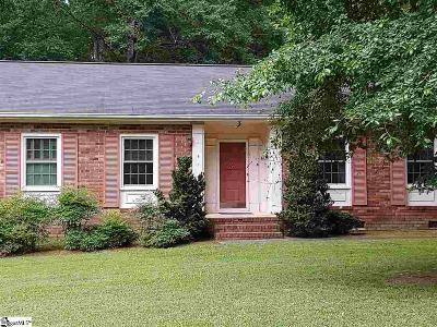 Simpsonville Single Family Home For Sale: 111 Bonwood