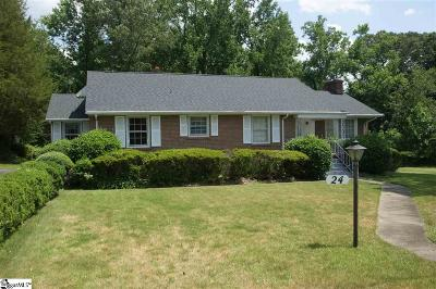 Greenville Single Family Home For Sale: 24 Woodfern