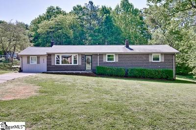 Greenville Single Family Home For Sale: 605 Sentell
