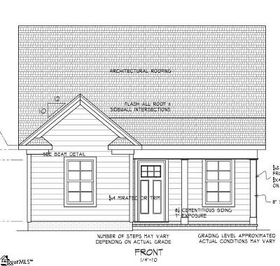 Easley Single Family Home For Sale: W D #Lot 14
