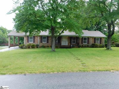 Greenville Single Family Home For Sale: 109 Covington