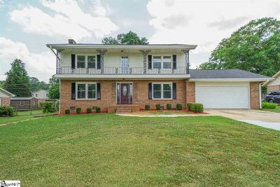 Spartanburg Single Family Home For Sale: 618 Andre