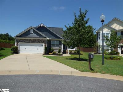 Simpsonville SC Single Family Home For Sale: $252,173
