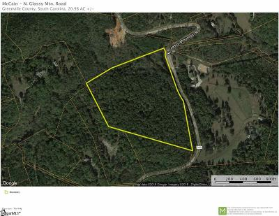 Travelers Rest Residential Lots & Land For Sale: N Glassy Mountain