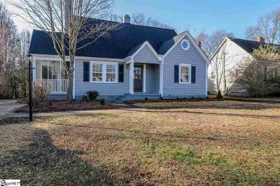 Greenville Single Family Home For Sale: 14 Paris Mountain