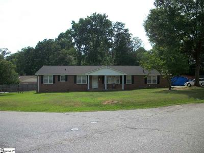 Greenville Single Family Home For Sale: 6 Prince Charming