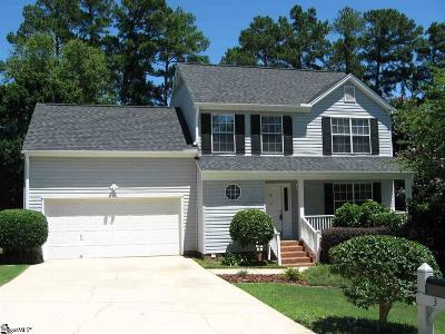 Simpsonville Single Family Home Contingency Contract: 3 E Fair Isle