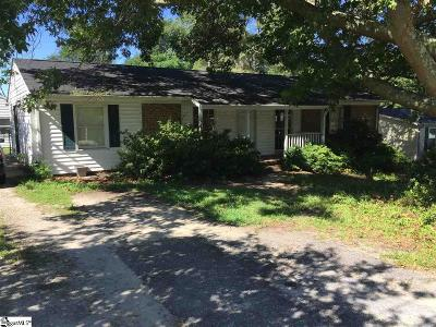 Simpsonville Single Family Home For Sale: 108 Gary