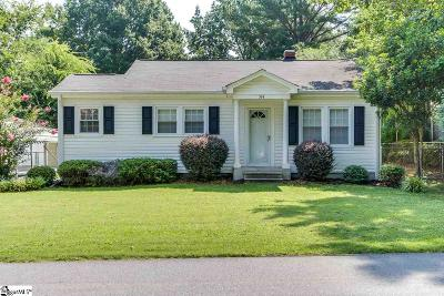 Simpsonville Single Family Home Contingency Contract: 314 Eastview