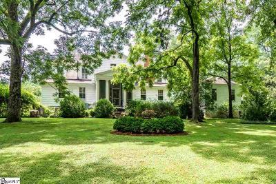 Spartanburg Single Family Home For Sale: 3550 Glenn Spring