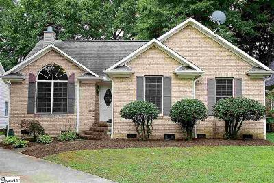 Simpsonville Single Family Home Contingency Contract: 11 Chantilly Rue