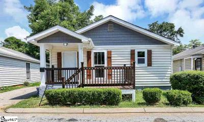 Greenville SC Single Family Home For Sale: $169,000