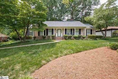 Greenville Single Family Home For Sale: 102 Kingsridge