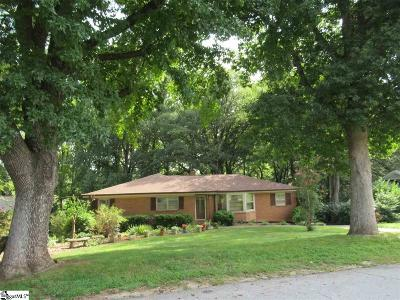 Greenville SC Single Family Home For Sale: $183,000