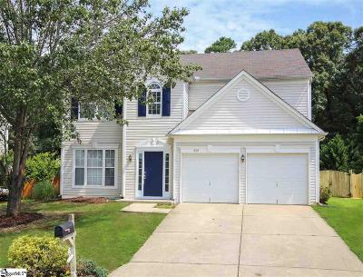 Simpsonville SC Single Family Home For Sale: $209,900