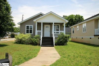 Greenville SC Single Family Home For Sale: $115,000
