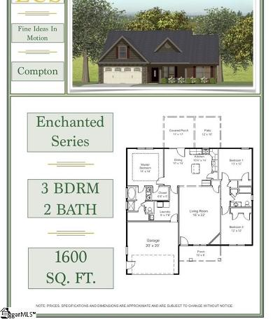 Greer Single Family Home For Sale: 1398 Satterfield #lot 5