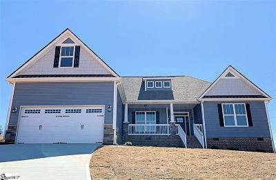 Taylors Single Family Home For Sale: 109 Sawyer Kyle #Lot 24